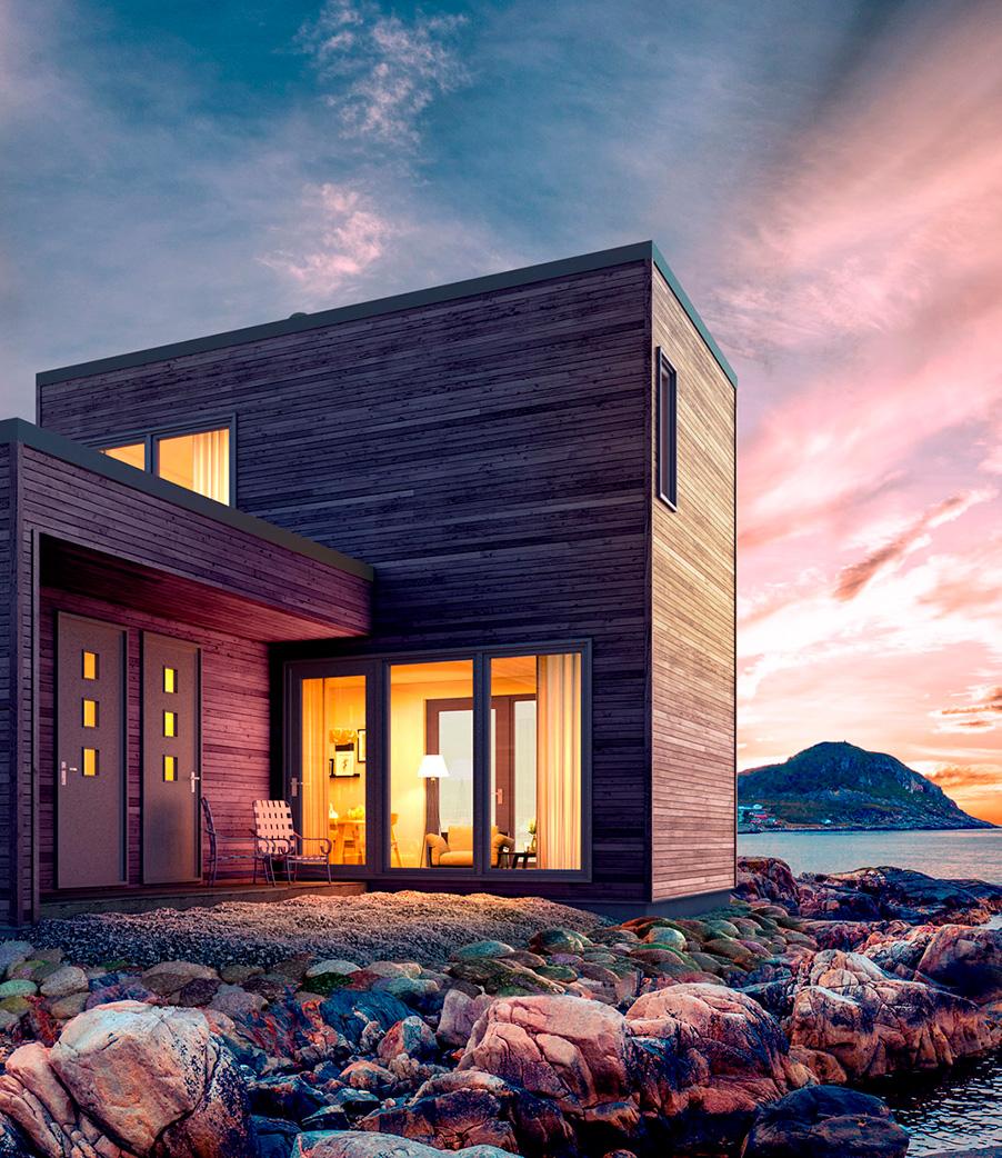 moderne hytter. Foto